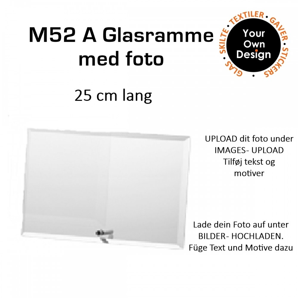 Exclusiver Glasplatte mit Foto und Text-31