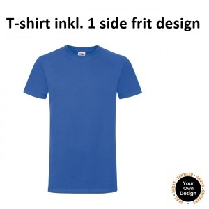 T-shirt inkl. 1 side frit design-Blue-20