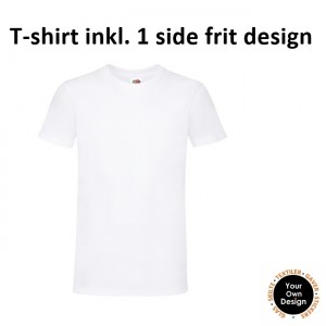 T-shirt inkl. 1 side frit design-White-20