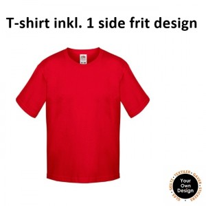Kids T-shirt inkl. 1 side FRIT Design-Red-20