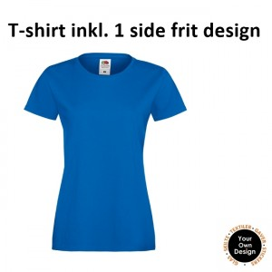 Ladies T-shirt inkl. 1 side frit design-Blue-20
