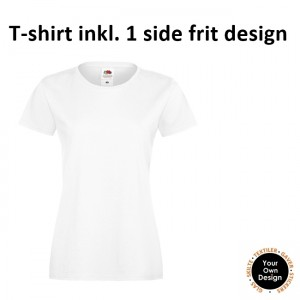 Ladies T-shirt inkl. 1 side frit design-White-20
