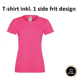Ladies T-shirt inkl. 1 side frit design-Pink-20