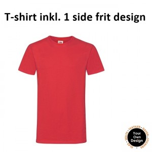 T-shirt inkl. 1 side frit design-Red-20