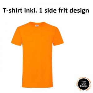 T-shirt inkl. 1 side frit design-Orange-20